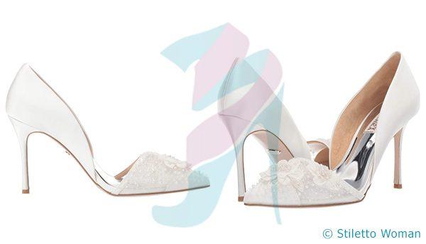 Badgley Mischka - Soft White color stilettos