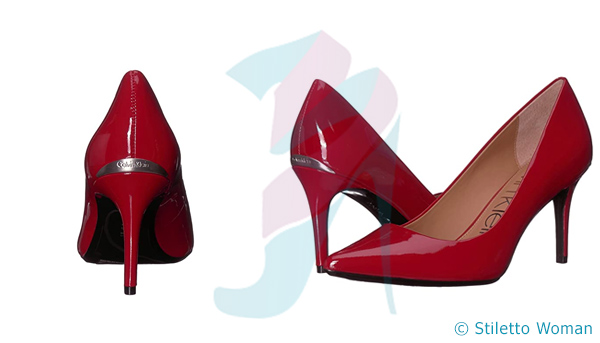Calvin Klein Gayle Pump - red color heels