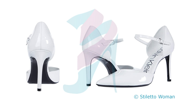 Calvin Klein Roya - white color stiletto shoes