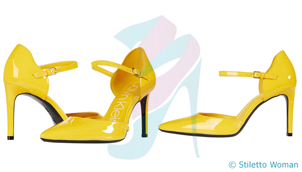 Calvin Klein Roya - yellow stiletto shoes