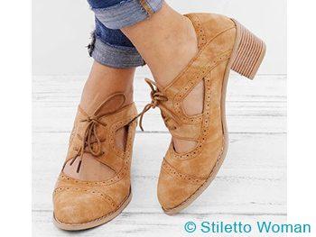 Cowboy Style Oxford Heels
