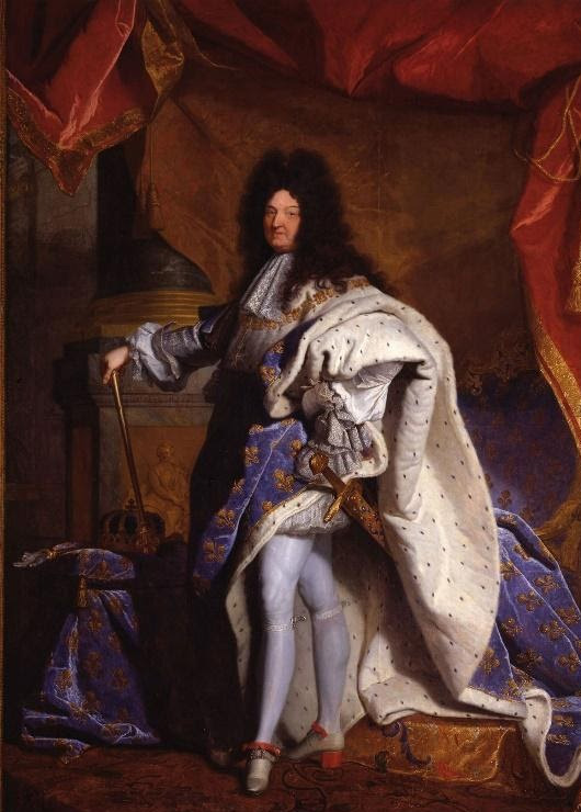 King Louis XIV wearing stiletto heels