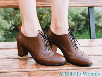 Leather It Up Oxford Heels