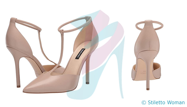 Nine West Breezy - nude color ankle strap