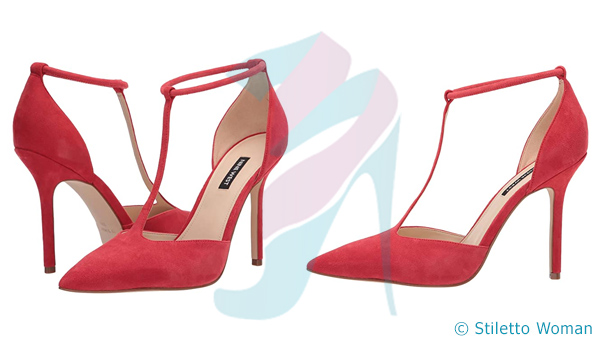 Nine West Breezy - red color ankle strap