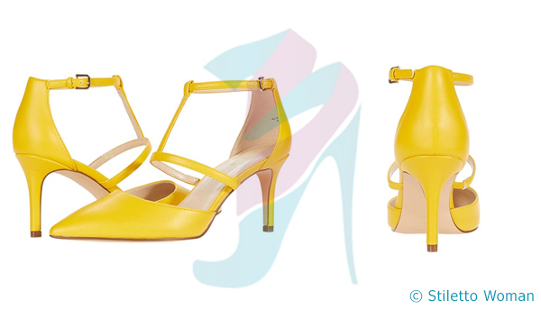 Nine West Marlo - yellow color Ankle Strap Pump