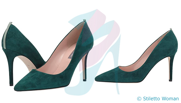 SJP - green color stiletto