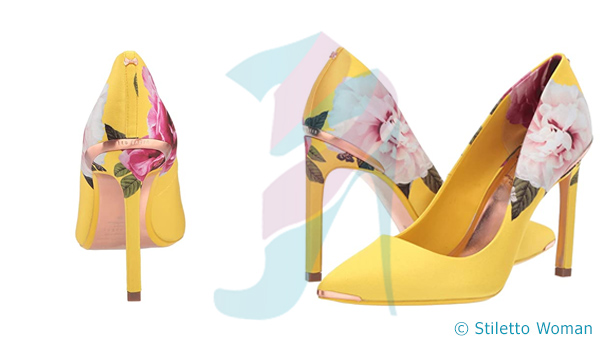 Ted Baker - Yellow stiletto shoe