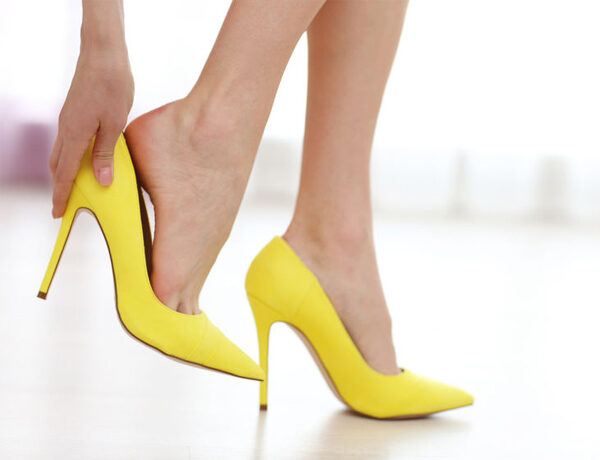 Yellow Stiletto Heels